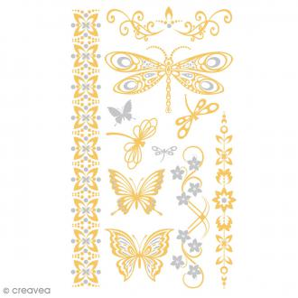 Tatouage temporaire Tattoo Chic - Papillons - 12 tattoos