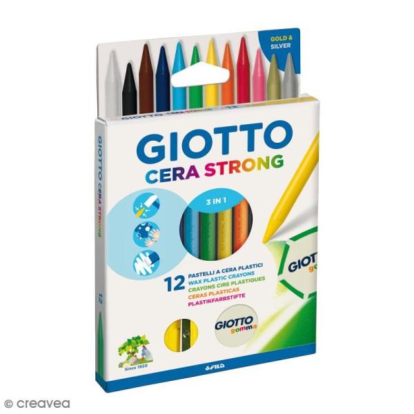 Crayons à la cire 3 en 1 - 12 pcs - Photo n°1
