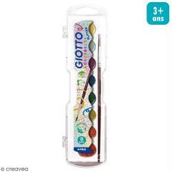 Aquarelle pastille Acquerelli Glitter Giotto - 8 pcs