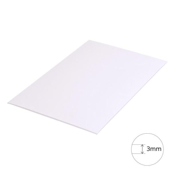Carton plume A4 blanc - 3 mm - 1 planche - Photo n°1