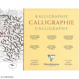 Bloc calligraphie Clairefontaine 24 x 30 cm - 130 gr - 25 feuilles