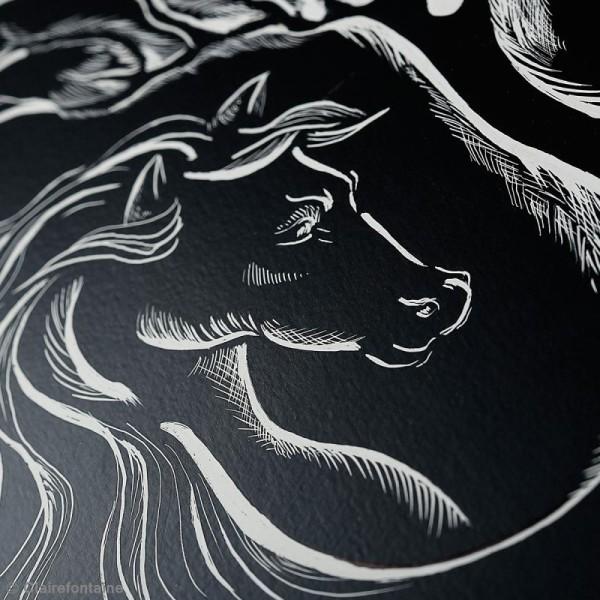 Carte à gratter Noire 24 x 32 cm - 520 gr - 2 feuilles - Photo n°2