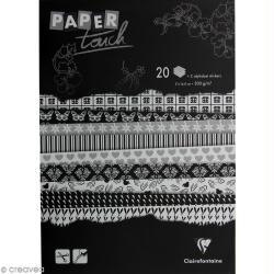 Papier scrap Clairefontaine - Bloc A5 Black & white - 20 feuilles