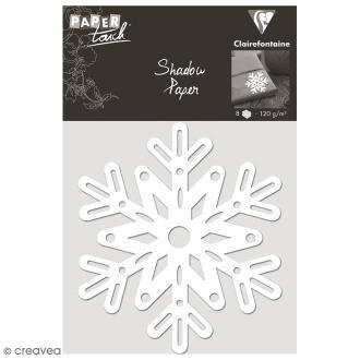 Découpe en papier Shadow paper - Flocon blanc - 8 formes