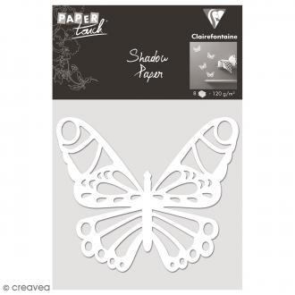 Découpe en papier Shadow paper - Papillon blanc - 8 formes