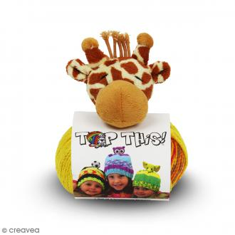 Kit Top This DMC - Bonnet enfant à peluche Girafe