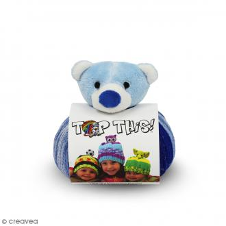 Kit Top This DMC - Bonnet enfant à peluche Ours