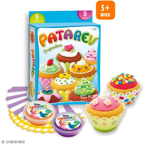Coffret Pâte à modeler Patarev - Cupcakes - Photo n°1