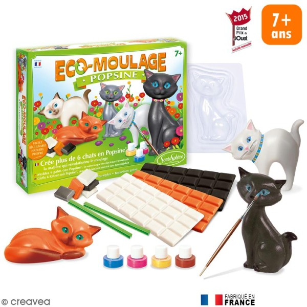 Coffret Eco-moulage Popsine - Les chats et chatons - Photo n°1