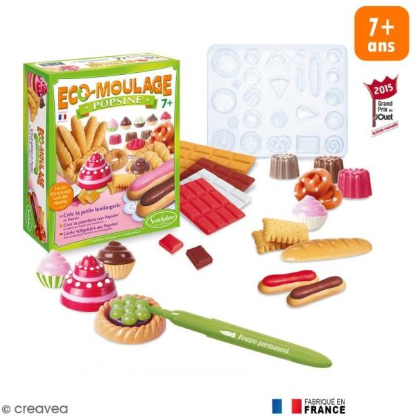 Coffret Eco-moulage Popsine - Ma petite boulangerie - Photo n°1