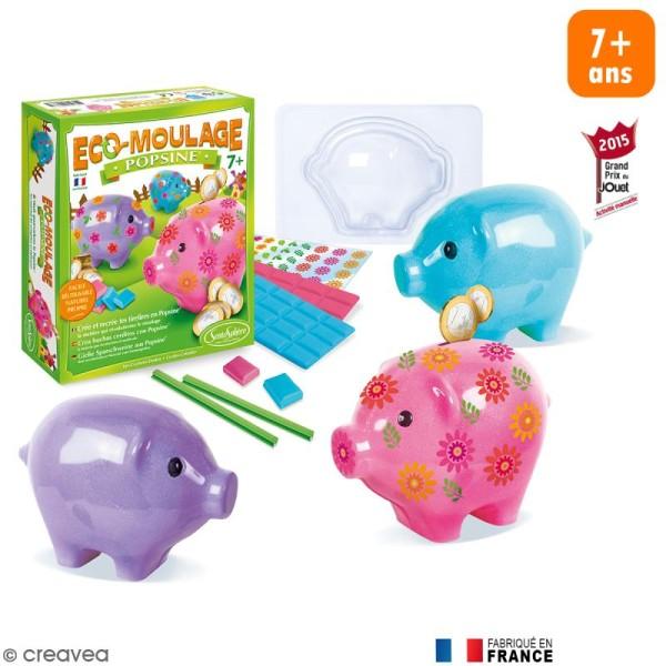 Coffret Eco-moulage Popsine - Le cochon dodu - Photo n°1