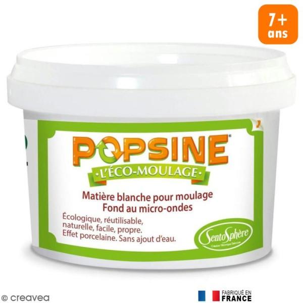 Recharge Eco-moulage Popsine - Poudre - Blanc effet porcelaine - 400 g - Photo n°1
