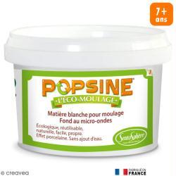 Recharge Eco-moulage Popsine - Poudre - Blanc effet porcelaine - 400 g
