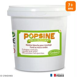 Recharge Eco-moulage Popsine - Poudre - Blanc effet porcelaine - 1 kg