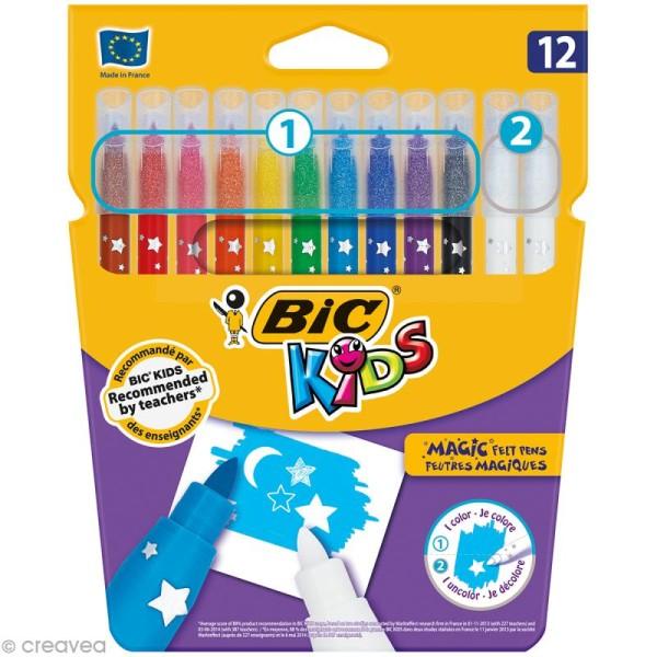 Feutres magiques - Bic Kids - 12 feutres - Photo n°1