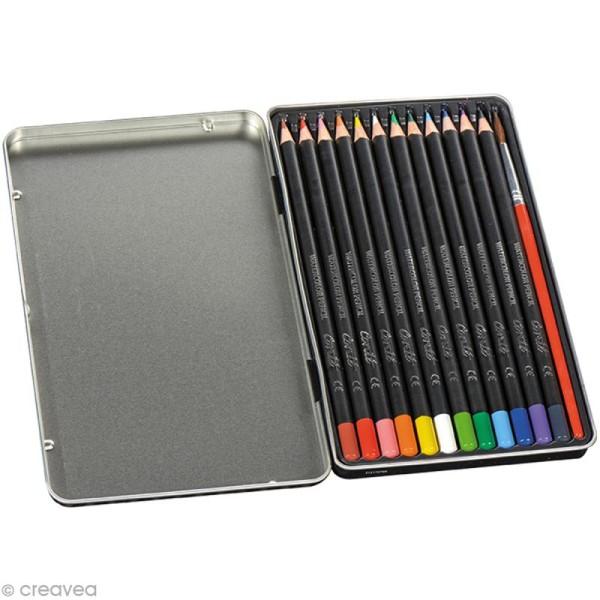 Crayons de couleur aquarelle Conté - 12 crayons - Photo n°2