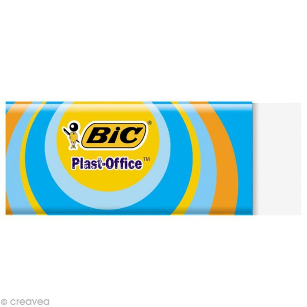 Gomme Plast-Office Bic - 6 x 2 cm - Photo n°1