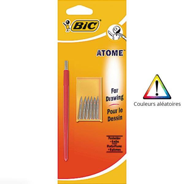 Porte-plumes Atome Bic - Dessin - 6 plumes - Photo n°1