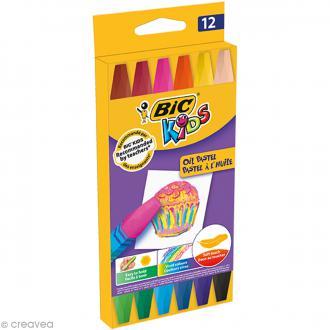 Pastel à l'huile - Bic Kids - 12 pcs