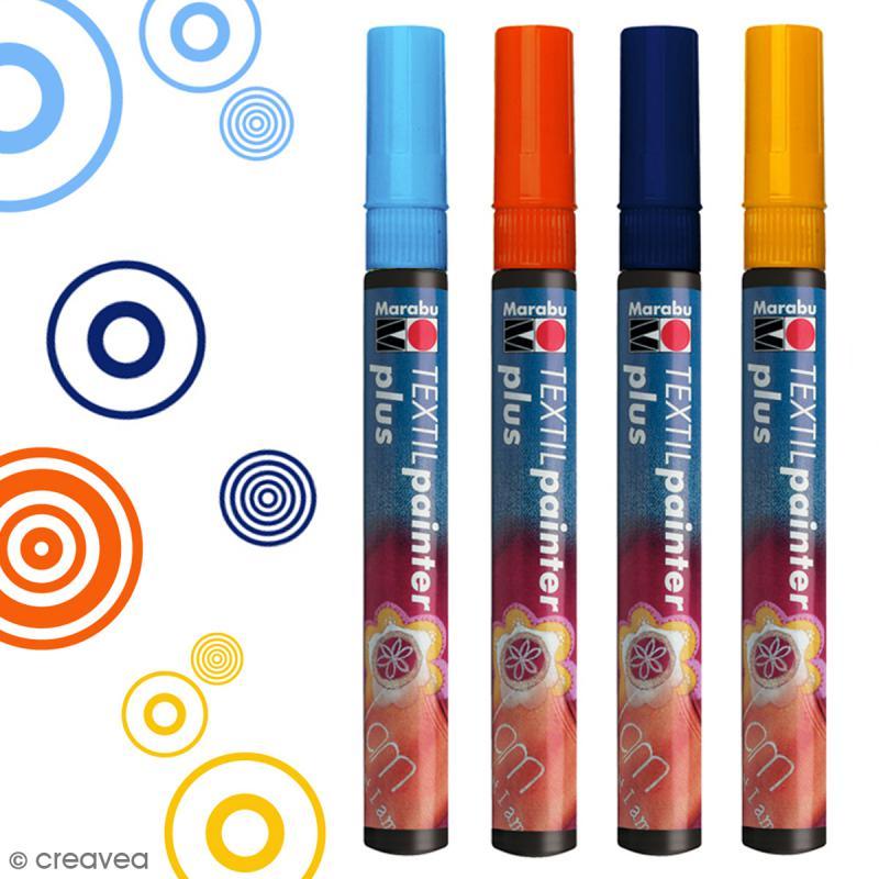 Feutre pour tissu textil painter plus 3 mm feutre - Comment enlever du stylo sur du tissu ...