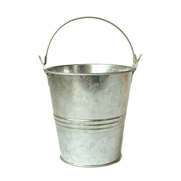 Petit seau en zinc de 10 cm avec anse - Photo n°1