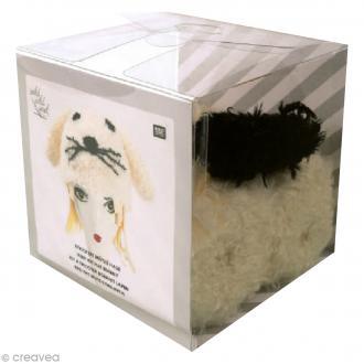 Kit Rico Design - Bonnet à tricoter - Lapin - Blanc crème