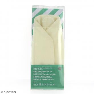 Doublure polaire pour bonnet en tricot - Crème - 56-60 cm