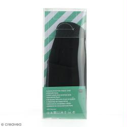 Doublure polaire pour bonnet en tricot - Noir - 50-54 cm