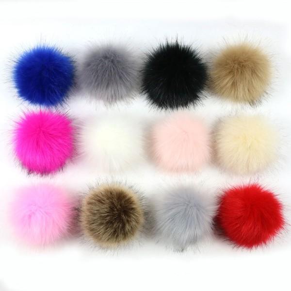 vente chaude en ligne 7116d 9bd57 12 Magnifiques Pompons Fausse Fourrure 5-7cm - Multicolore-