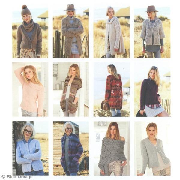 Livre magazine à tricoter Rico Design - Collection Automne/Hiver - 80 p - Photo n°4