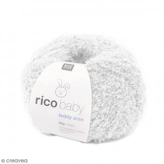 Laine Rico Design - Layette Baby Teddy Aran - Blanc - 50 gr