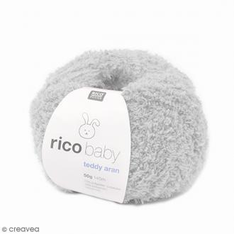 Laine Rico Design - Layette Baby Teddy Aran - Gris clair - 50 gr