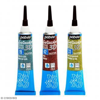 Peinture tissu Setacolor 3D - Glitter - 20 ml