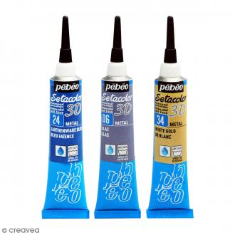 Peinture tissu Setacolor 3D - Metal - 20 ml
