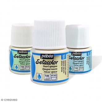 Peinture tissu Setacolor Pébéo - Nacré Opaque  45 ml