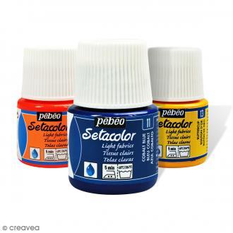 Peinture tissu Setacolor Pébéo - Tissus clairs  - 45 ml