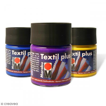 peinture pour tissu textil plus 50 ml peinture tissu textil plus creavea. Black Bedroom Furniture Sets. Home Design Ideas