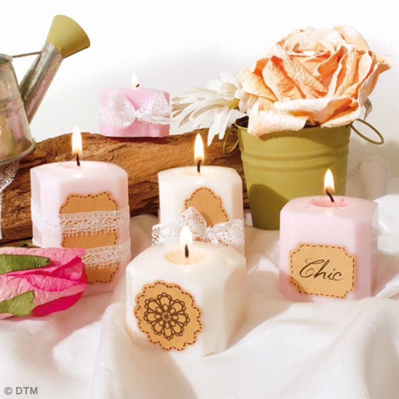 Kit créatif Bougies Pastel - Romantique - Photo n°2