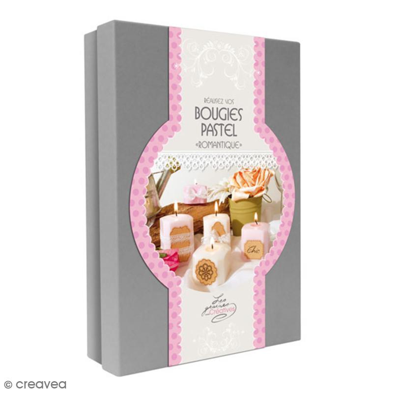 Kit créatif Bougies Pastel - Romantique - Photo n°1