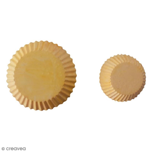 Mini moule silicone souple DTM - Cupcake - 2 formes - Photo n°2