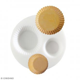 Mini moule silicone souple DTM - Cupcake - 2 formes