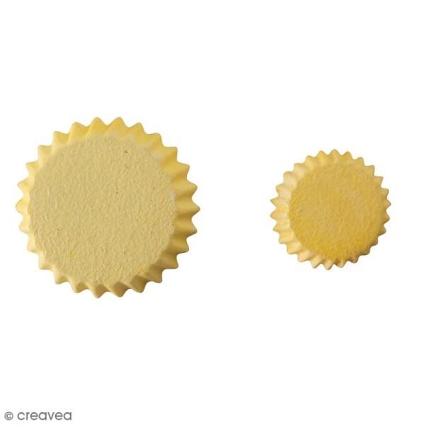 Mini moule silicone souple DTM - Fond de tarte - 2 formes - Photo n°2