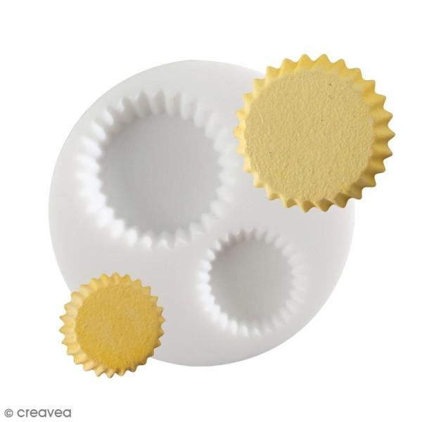 Mini moule silicone souple DTM - Fond de tarte - 2 formes - Photo n°1