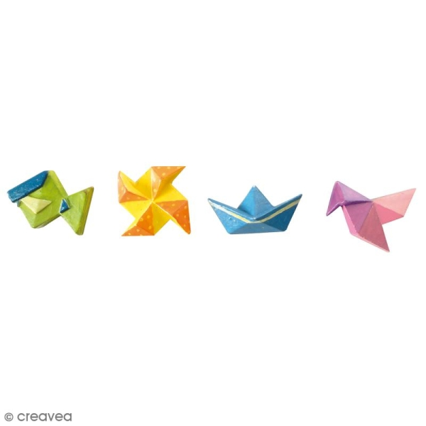 Mini moule silicone souple DTM - Origami - 4 formes - Photo n°2