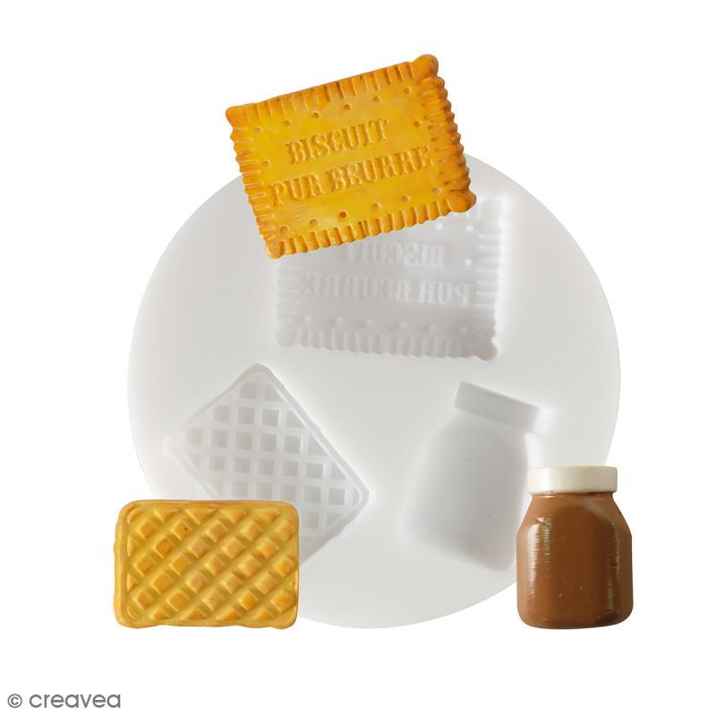 Mini moule silicone souple DTM - Biscuits d'enfance - 3 formes - Photo n°1
