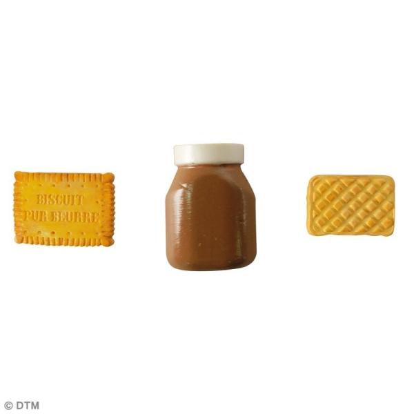 Mini moule silicone souple DTM - Biscuits d'enfance - 3 formes - Photo n°2