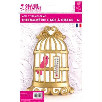 Moule thermoformé Cage à oiseau - 19 x 13 cm
