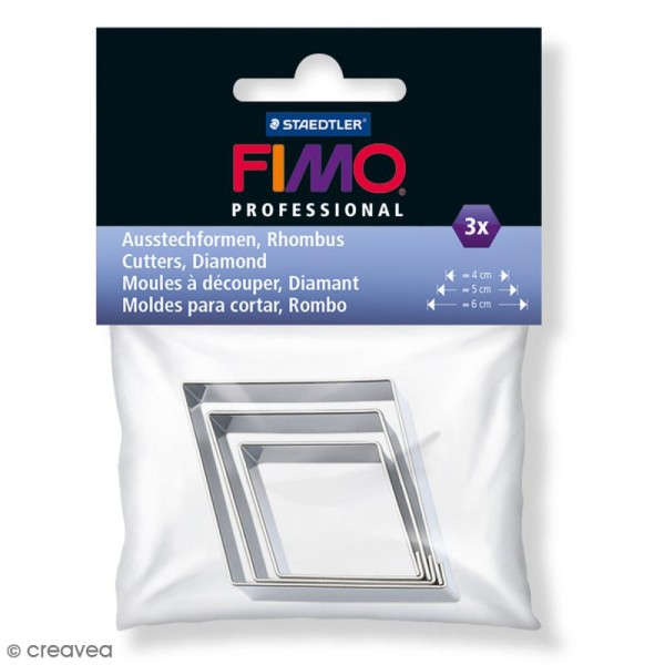 Emporte-pièces Fimo Diamant - 3 pcs - Photo n°1