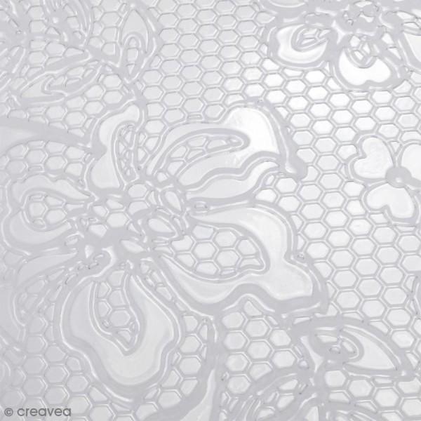 Plaque de texture Dentelles - 20 x 13,5 cm - Photo n°2
