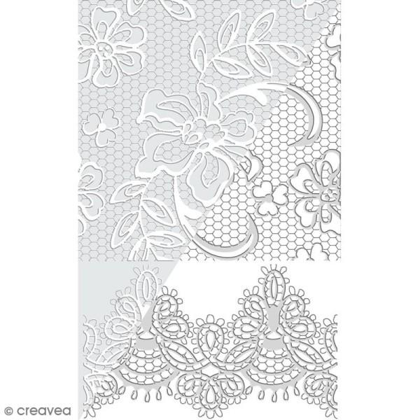 Plaque de texture Dentelles - 20 x 13,5 cm - Photo n°1